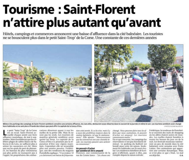 Tourisme saint florent n 39 attire plus autant qu 39 avant corse matin 5 ao t 2015 saint florent - Office tourisme saint florent ...