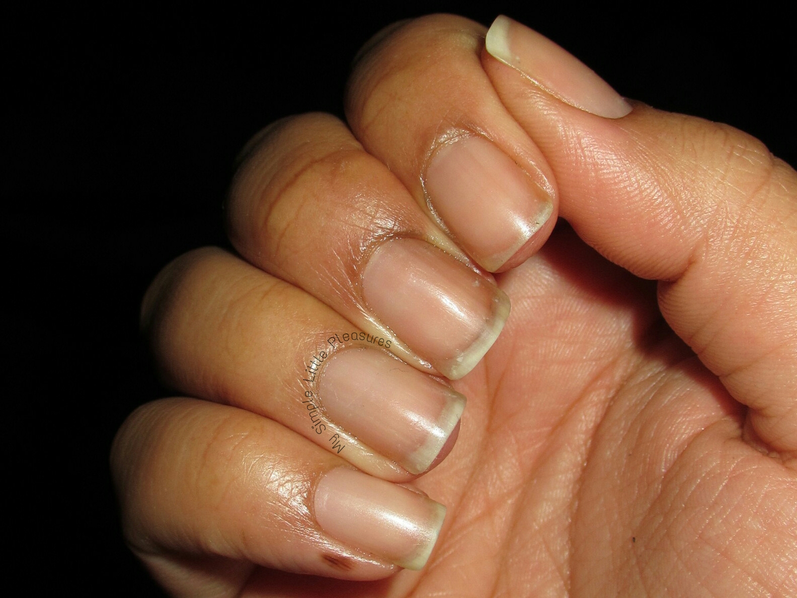 My Simple Little Pleasures: New Year\'s Naked Nails Before & After