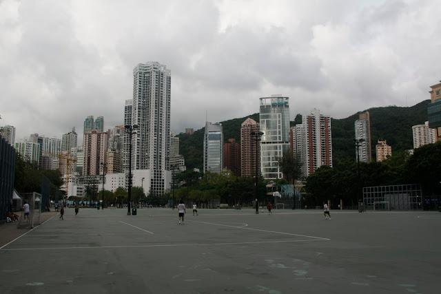 Área deportiva en Kawloon, Hong Kong.