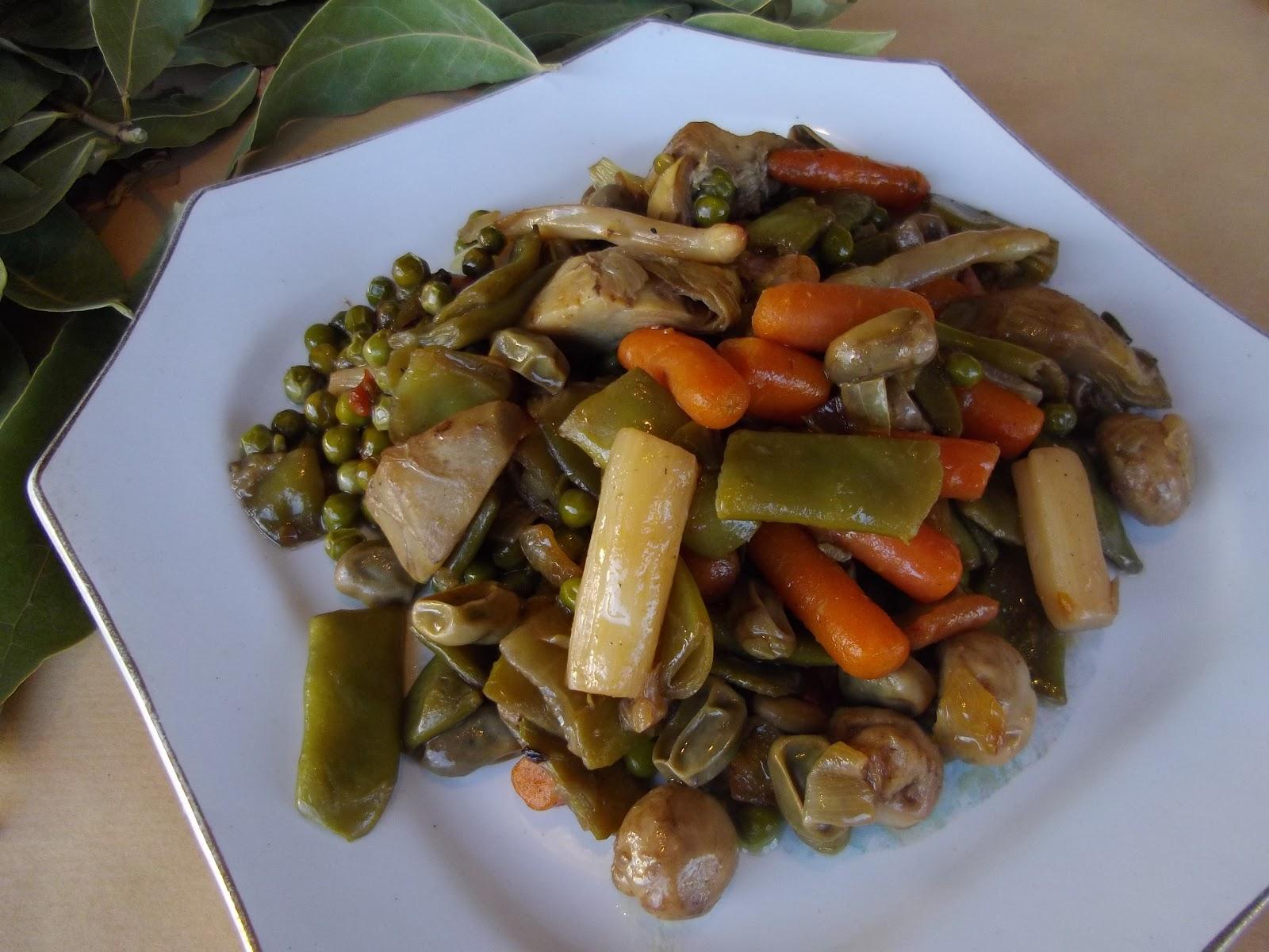 Cocina sin problemas menestra de verduras con congelados - Como preparar menestra de verduras ...