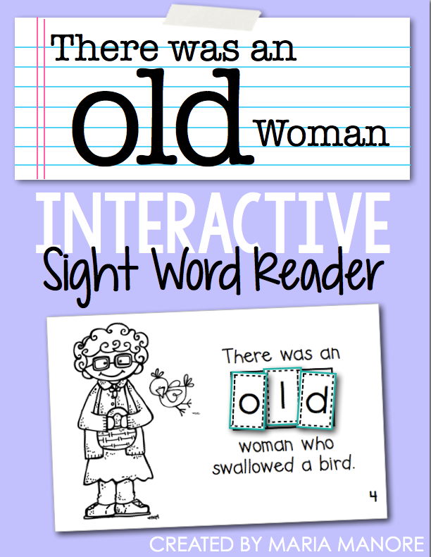 "emergent reader for sight word ""OLD"""