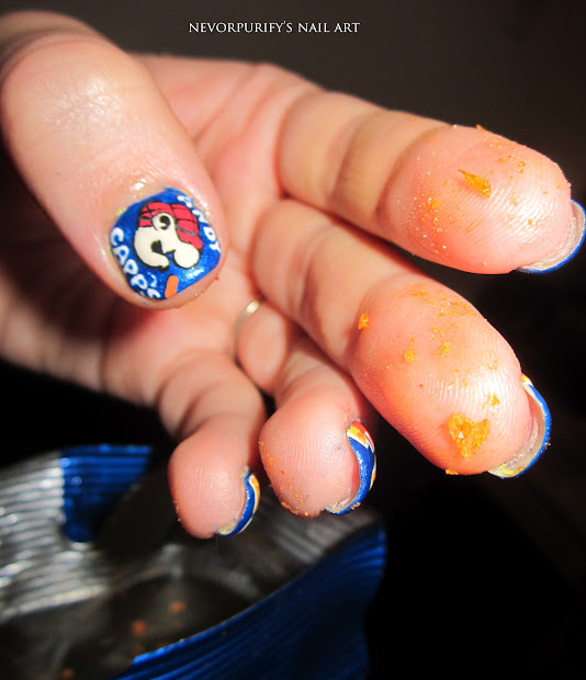 hot fries nails art unghie de