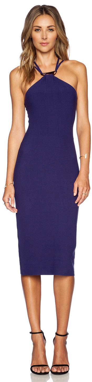 HALSTON HERITAGE HALTER SWEATER DRESS