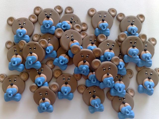 Urso Marrom com Azul