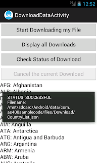 Android DownloadManager check status