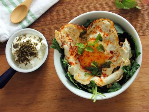 ... Blog: Baby Greens and Pear Bowl with Za'atar, Yogurt, and Fried Egg