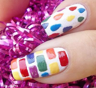 Nail art Rainbow