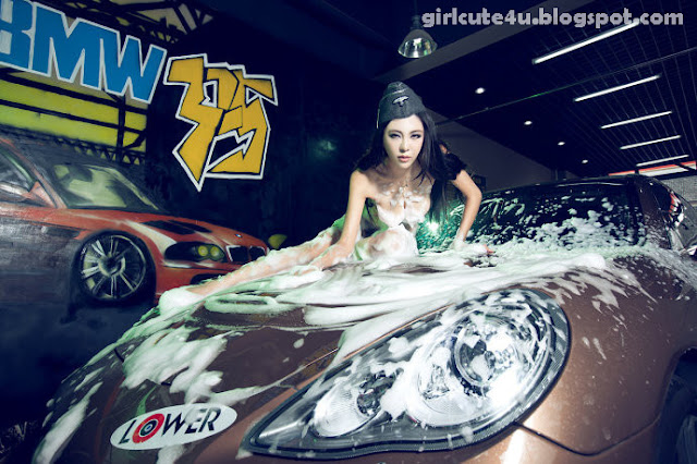 Gang-Xiao-Xi-Car-Washing-05-very cute asian girl-girlcute4u.blogspot.com