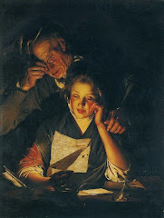 A Young Girl Reading A Letter, With An Old Man Reading Over Her Shoulder, C