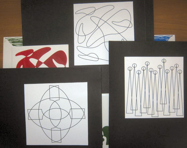 Os estudos de Hofling podem virar estampas para seus azulejos. Formas geométricas e orgânicas se alternam.