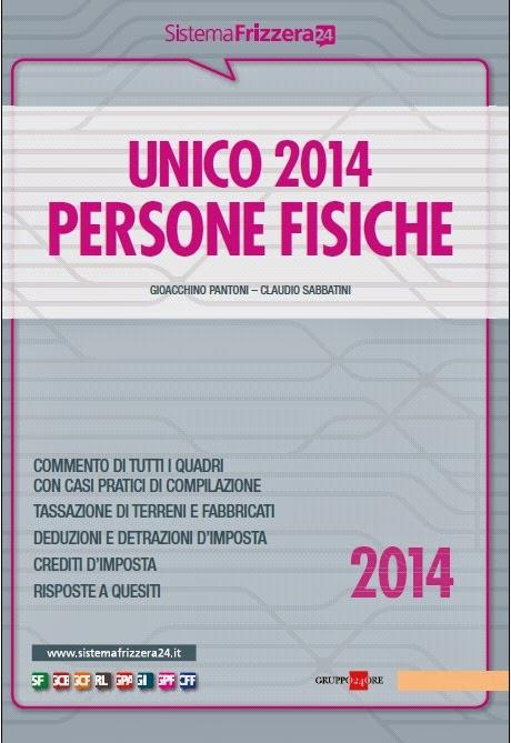 Unico 2014. Persone fisiche (Sistema Frizzera)