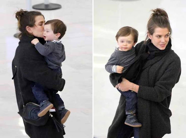 Charlotte Casiraghi and his son Raphael Elmaleh