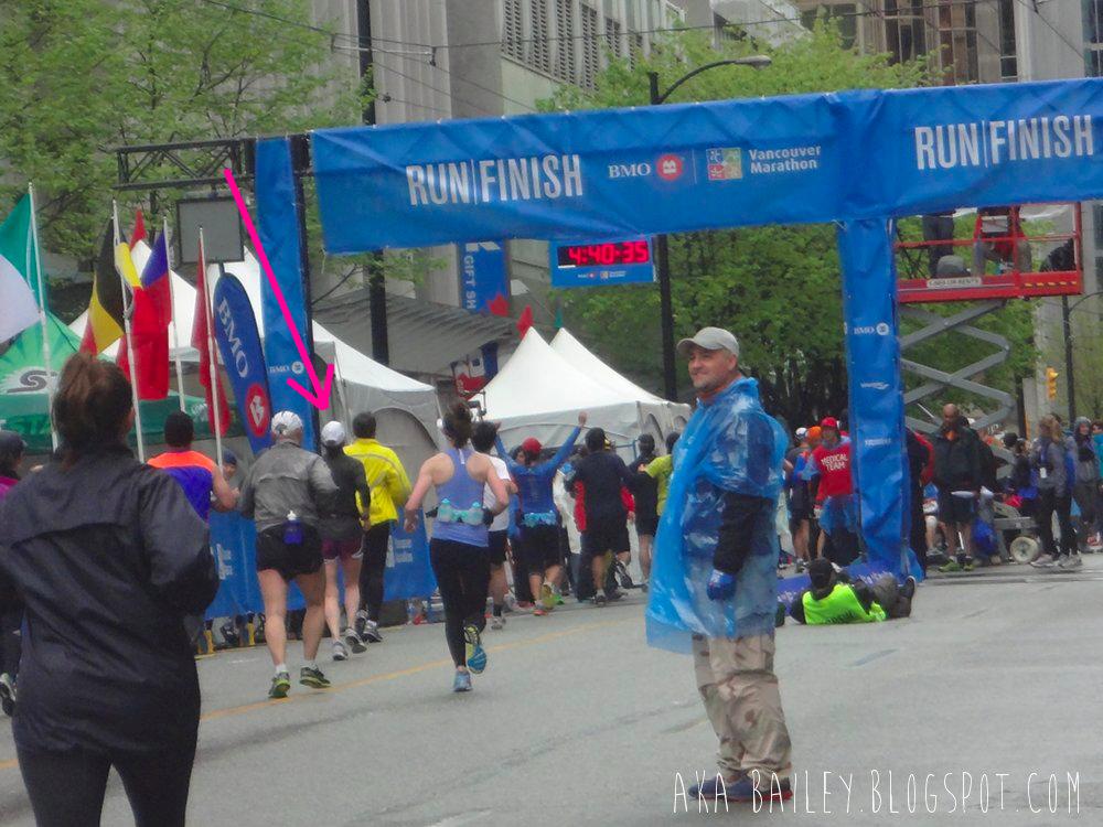 2014 BMO Vancouver Marathon finish line