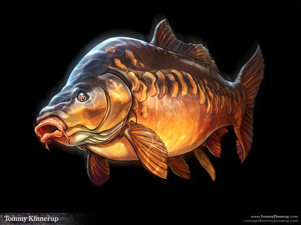 illustration # Tommy Kinnerup - Fish Art