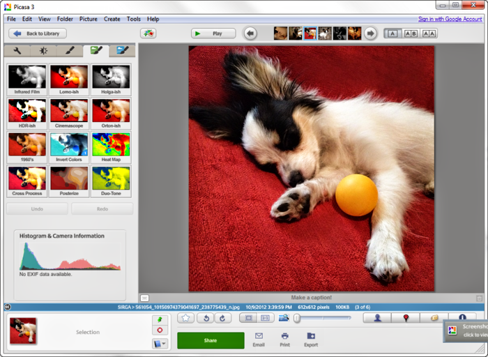 Picasa 3.9.137.81  Photo Editing Software Free Download