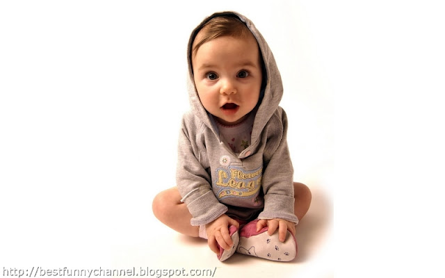 Nice cute baby.