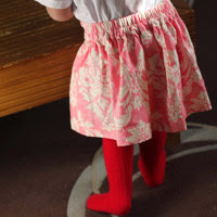 Free gathered skirt pattern with half elastic back