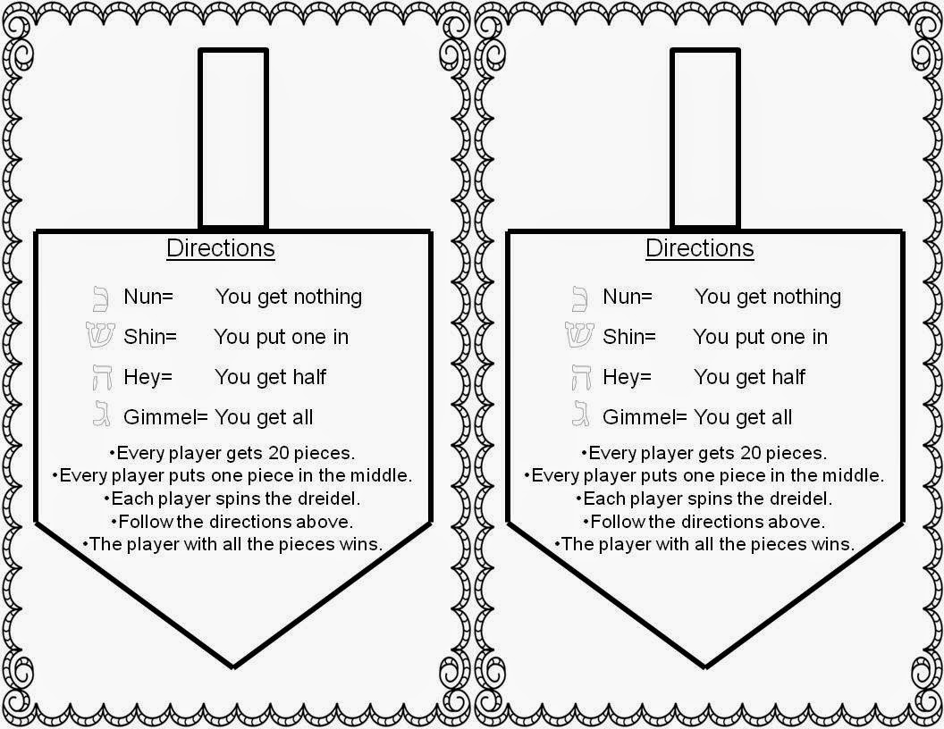 Candid image with dreidel game rules printable