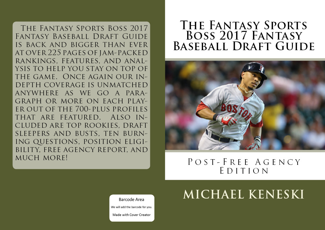 SUBSCRIBE TO FANTASY SPORTS BOSS 4 YEARLY BOOKS FOR JUST $69.99 (SAVINGS OF $26)