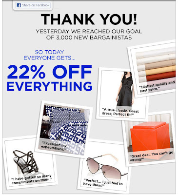 Click to view this June 22, 2011 SmartBargains email full-sized
