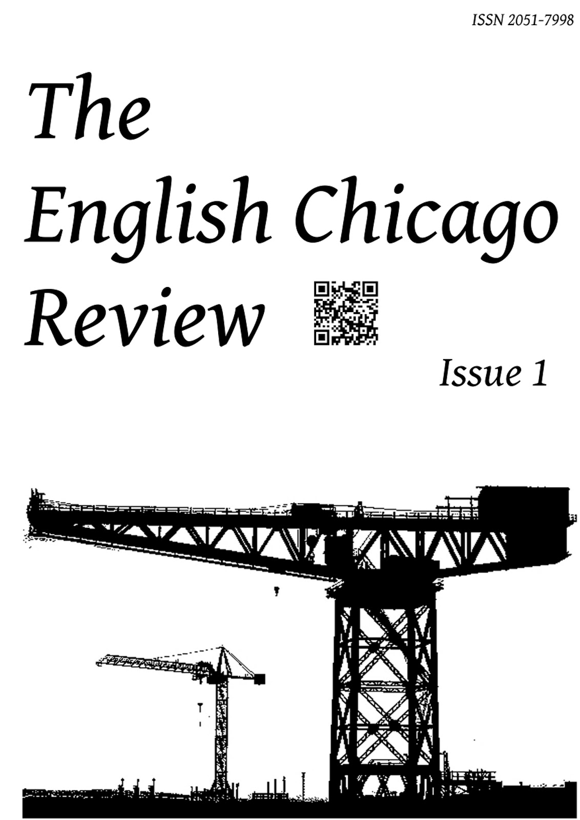 cover of The English Chicago Review, Issue 1