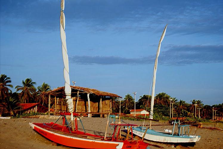 Praia de Barreiras - Jangada e Mar