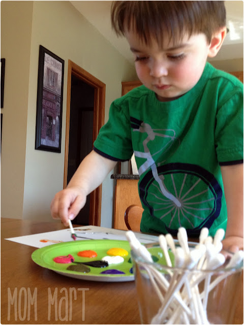 Crafts for Kids: Q-Tip Painting