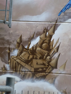 der blaue Vogel, Graffiti, Streetart