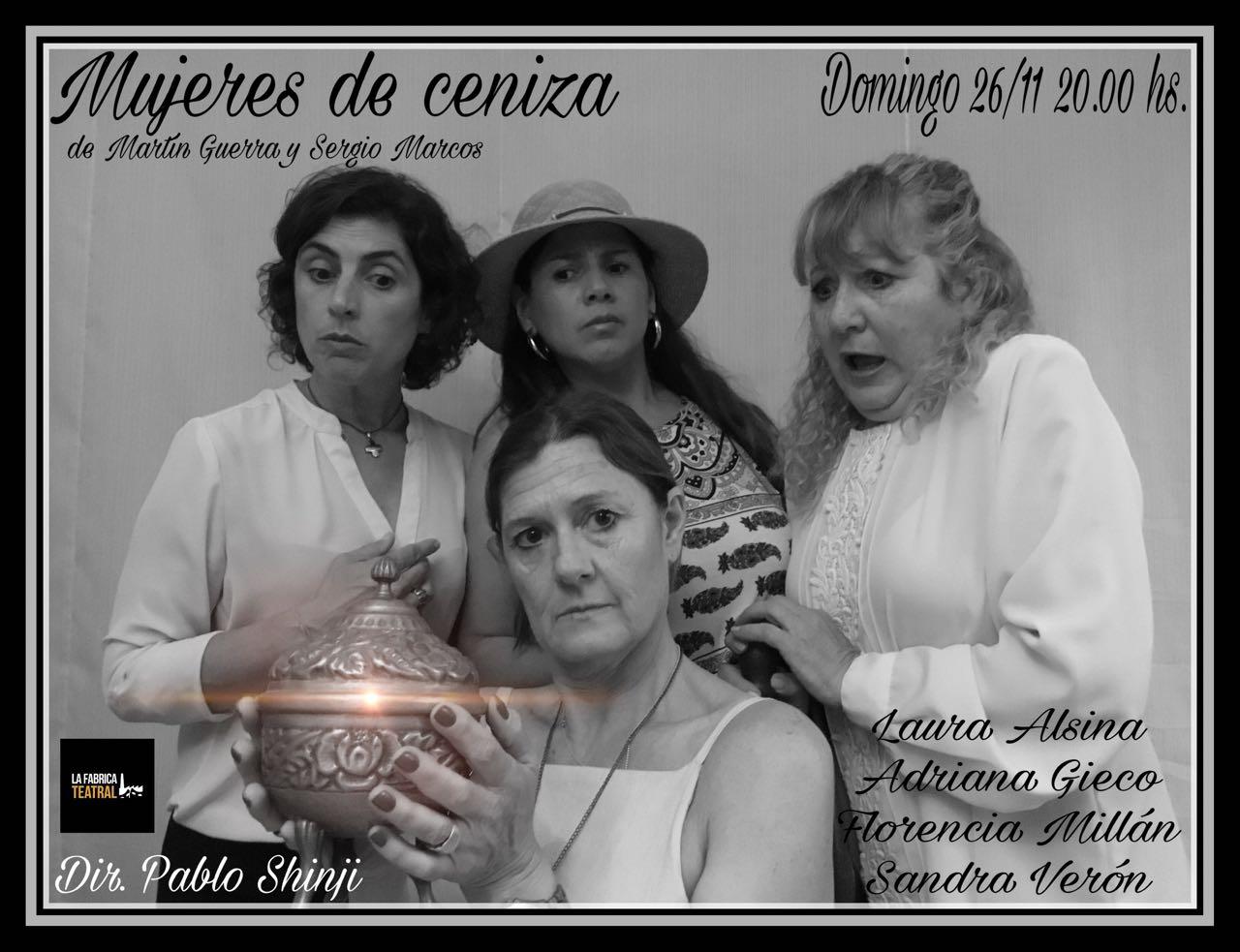 MUJERES DE CENIZA. Muestra de Clínica teatral 2017