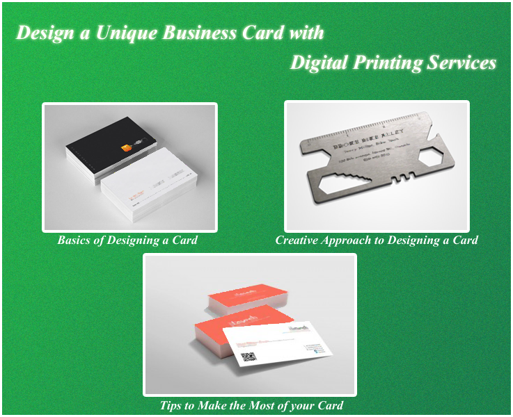 Design a Unique Business Card with Digital Printing Services