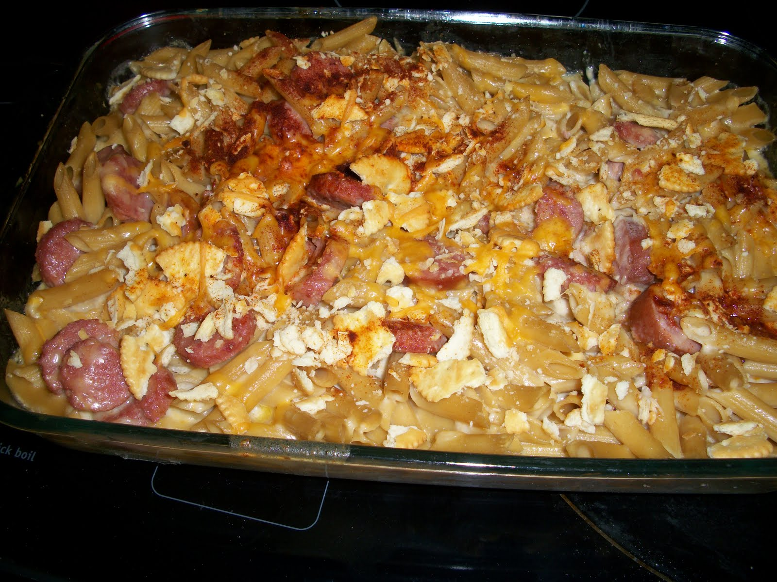 ... many thoughts of a reader: Homemade Mac & Cheese with Smoked Sausage