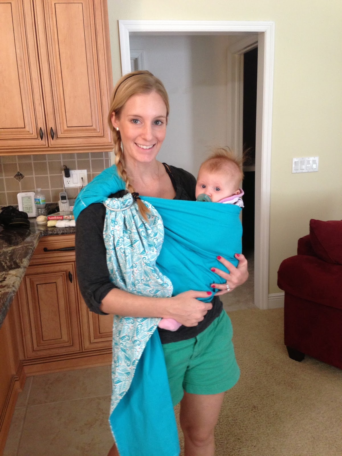 How To Use A Ring Sling  Month Old
