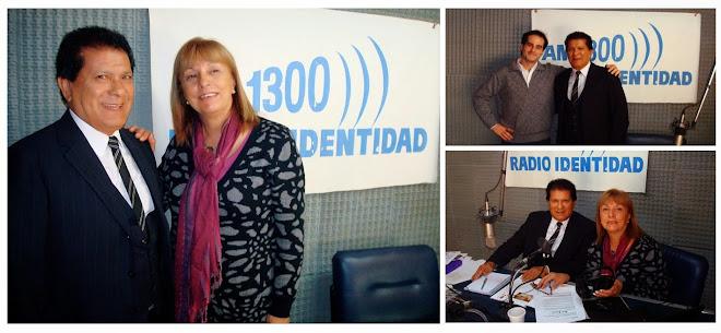 Visitando Radio Identidad como invitado al programa LAS MAÑANAS CON MONICA