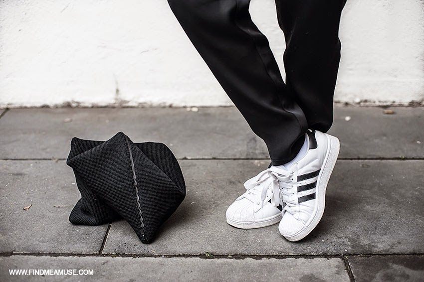 Alexander Wang track pants Adidas Superstar Original Sneakers Scanlan and Theodore crepe zip clutch