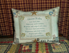 HOUSE RULES PILLOW TUCK