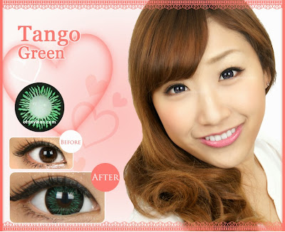 Tango Green Contact Lenses at ohmylens.com