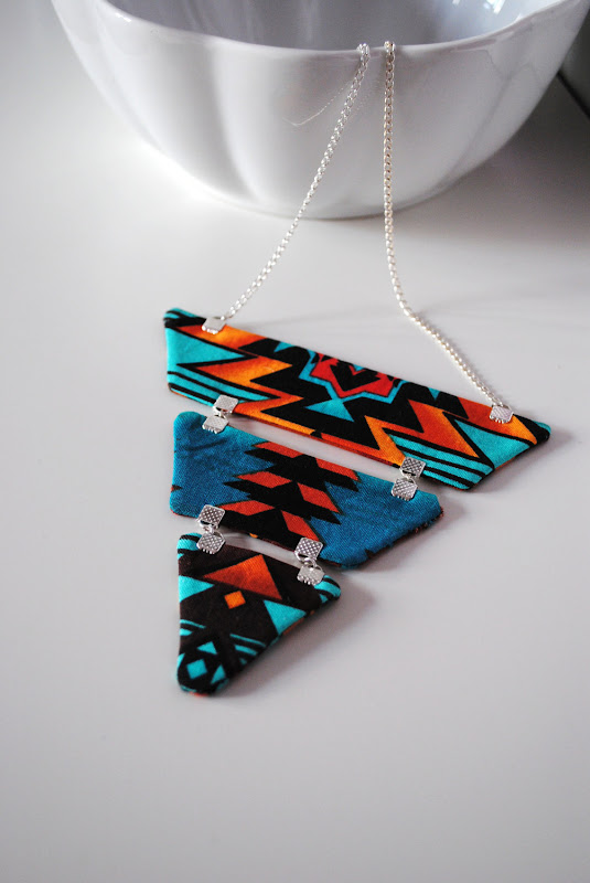 Navajo triangle necklace by Sewing Mischief Gems