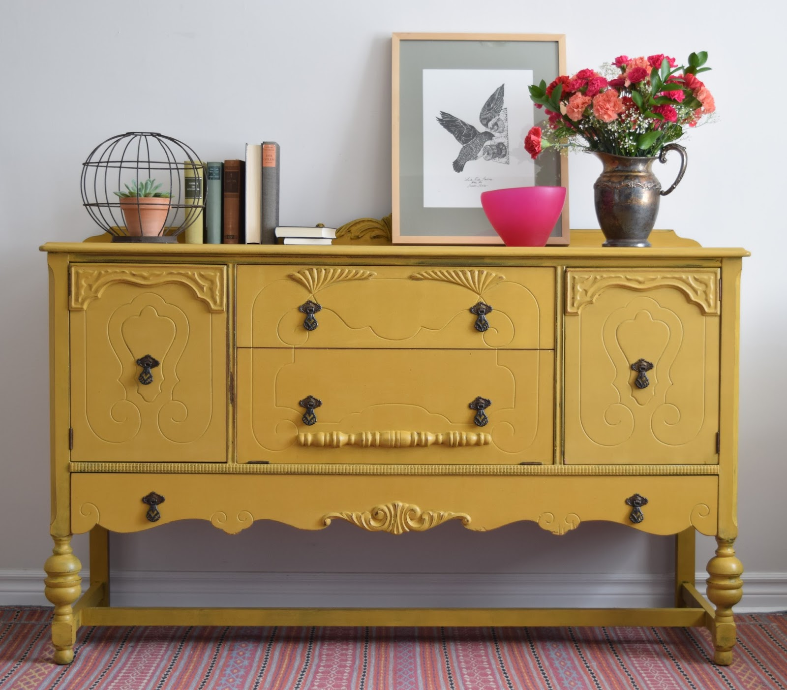Mustard Kitchen Paint: Poppyseed Creative Living: Mustard Yellow Sideboard