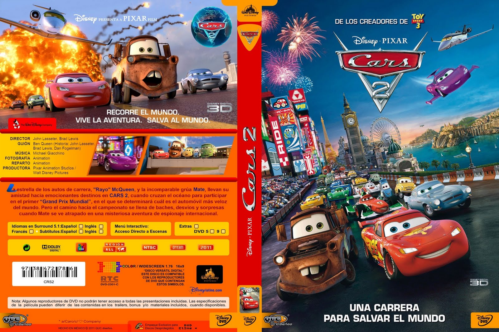 peliculas infantiles en dvd cars 2. Black Bedroom Furniture Sets. Home Design Ideas