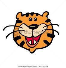 Wallpaper tiger cartoon