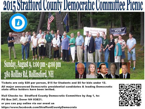 Strafford County Democratic Picnic-August 9th, 1-4, Rollinsford