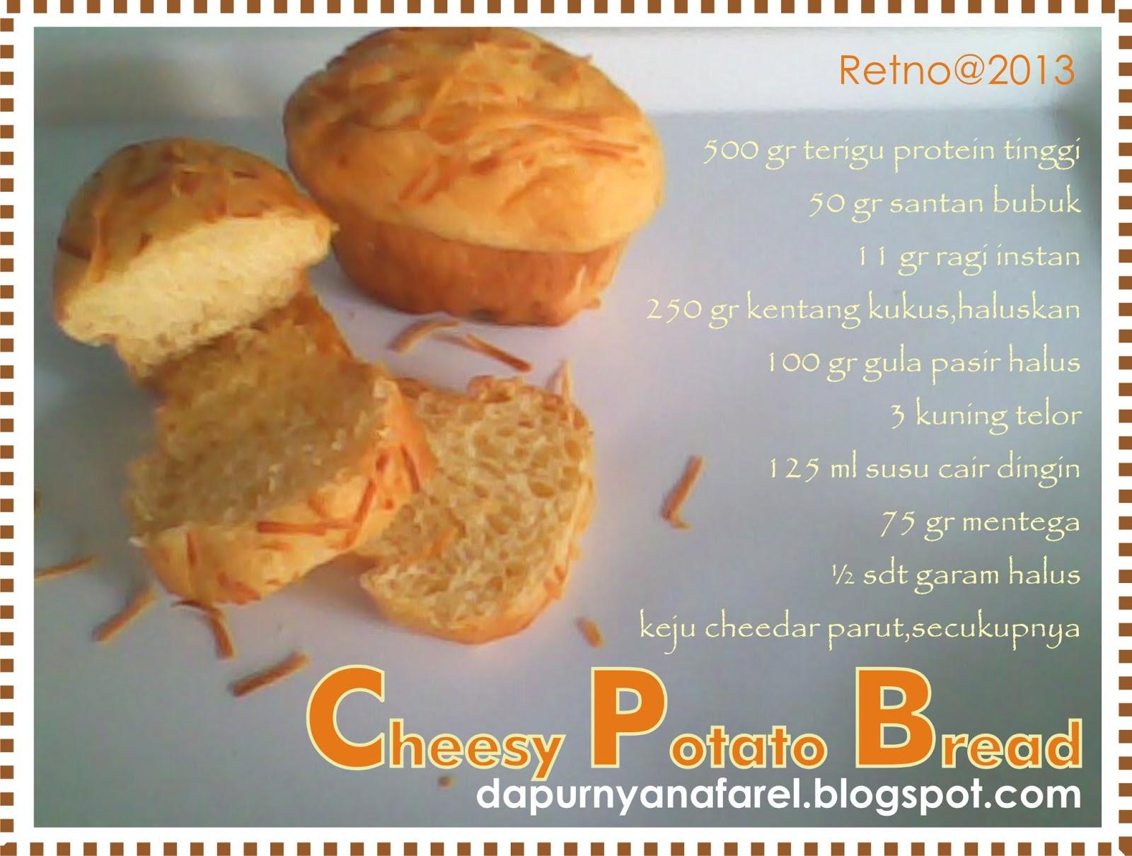 Dapurnya NafaRel: Cheesy Potato Bread
