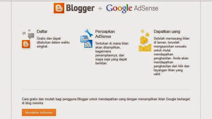 Mendaftar Akun Adsense Pertama Kali Dengan Blog Ini