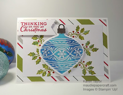 Stampin' Up! Embellished Ornaments card Christmas card