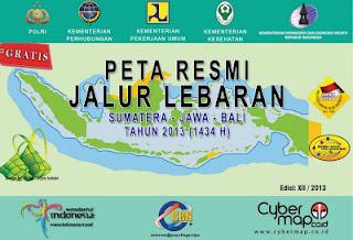 Peta Mudik Lebaran 2013 Bagian Sumatera