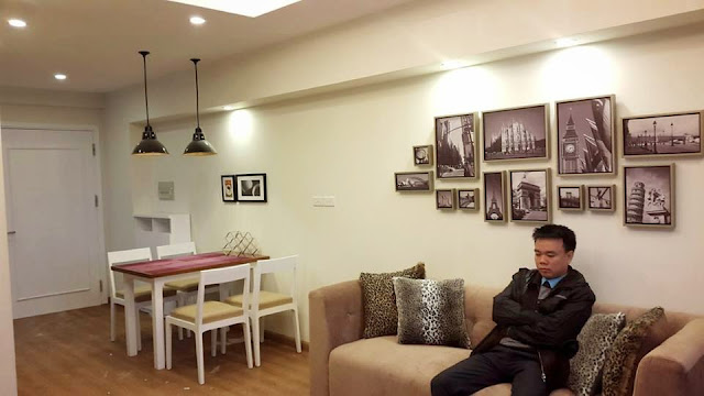 Thiết kế phòng khách chung  cư ct3 tây nam linh đàm