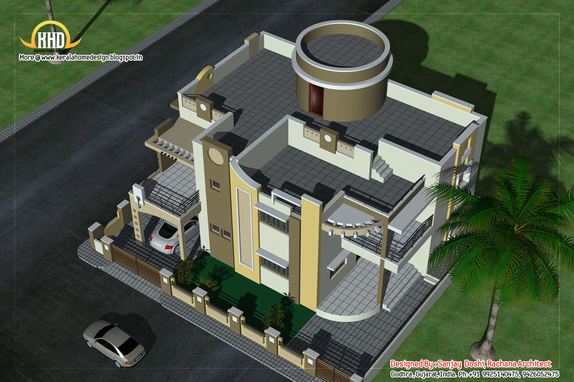 Duplex house plan and elevation 1770 sq ft home - Duplex House Elevation 290 Sq M 3122 Sq Ft February