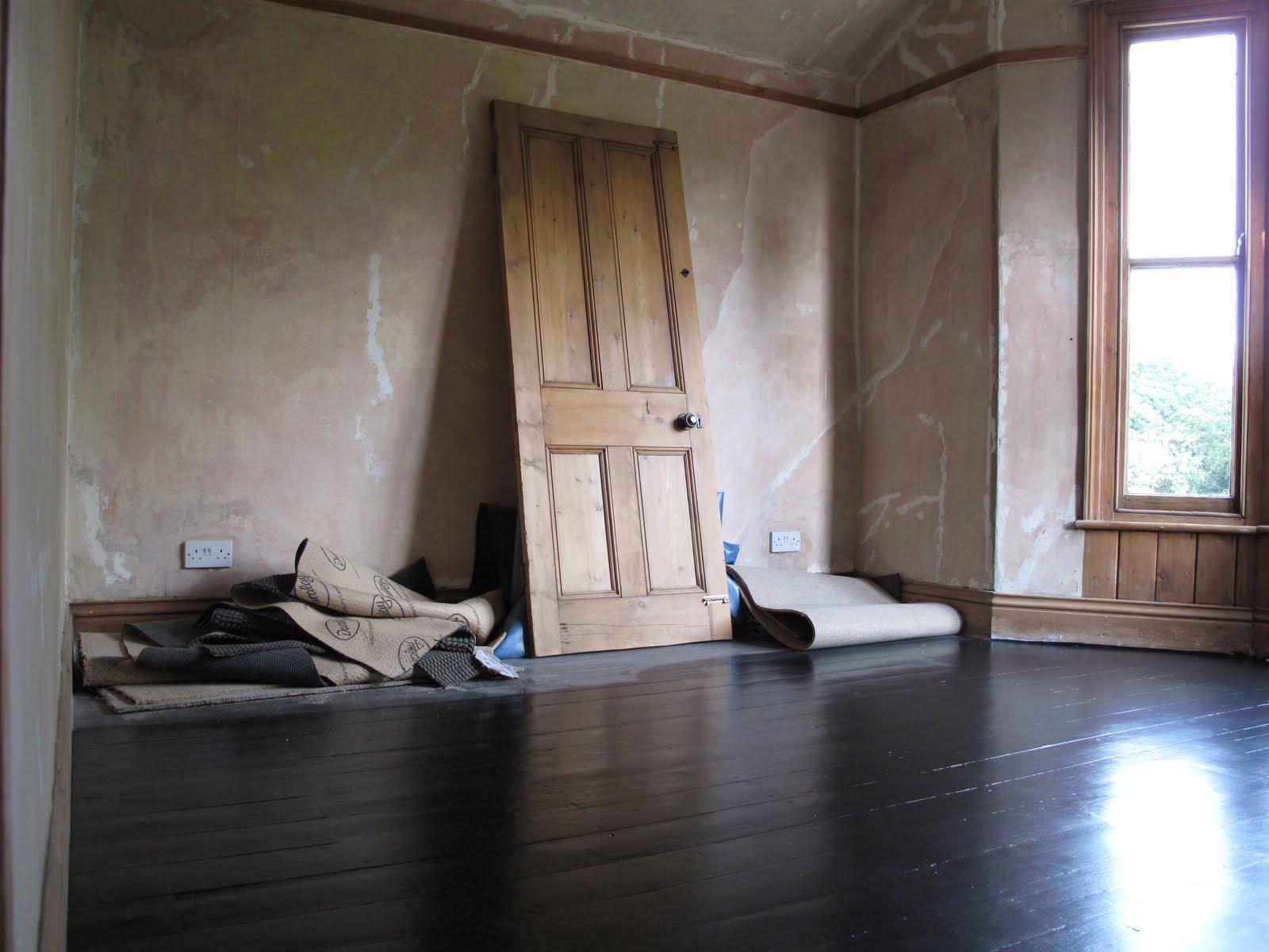 Floorboards Painted Black