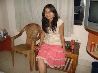 Indian girl wearing short skirts.
