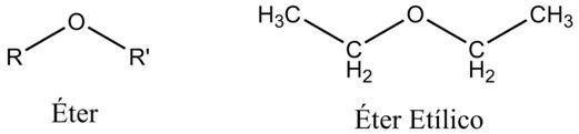 formula estructural eter etilico: